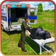 City Zoo Animals Rescue Truck Icon