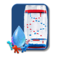 Liquid or Water drop animation Icon