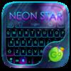 Neon Star Emoji Keyboard Theme Icon