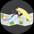 Family and Friend Locator Icon