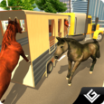 Transporter Truck Horse Stunts Icon