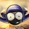Wingsuit Stickman Icon