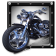 Highway Motor sport Rider 3D Icon