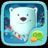 Snowy Teddybear GO SMS Icon