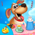 Puppy Tea Party Celebration Icon