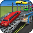 Limo Car Transporter Truck 3D Icon
