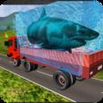 Transport Truck Shark Aquarium Icon
