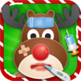 Christmas Animal Hospital Icon