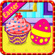 Cooking Creamy Easter Cupcakes Icon