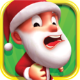 Santa Surfer Adventure Icon