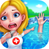 Summer Pool Party Doctor Icon