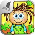 123 Kids Fun PUZZLE GREEN Free Icon