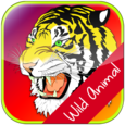 Wild Animal Face Matching Game for Kids Icon