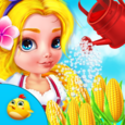 Baby Girl Farm Activities Icon