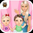 Sweet Baby Girl Twin Sisters Icon