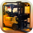 Forklift Driving 3D Simulation Icon