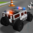 Police Car Driving Training Icon