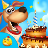 Puppy Birthday Party Time Icon
