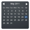 Month Calendar Widget Icon