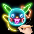 Draw Glow Cartoon Icon