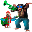 Talking Parrot vs Monkey Sing Icon