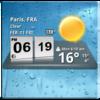 3D Digital Weather Clock Icon
