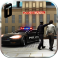 Crime Town Police Car Driver Icon