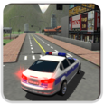 Police Car Driver 3D Icon