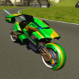 Flying Motorbike Stunt Rider Icon