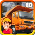 Heavy Truck : Construction 3D Icon
