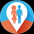 Couple Tracker -Mobile monitor Icon