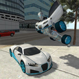 Flying Car Robot Simulator Icon