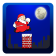 Santa Roof Run Icon
