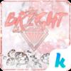 White Diamonds Kika Keyboard Icon