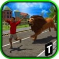 Angry Lion Attack 3D Icon