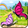 Coloring Sweet Butterfly Icon
