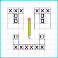 Tic Tac Toe Blocks Puzzle Test Icon