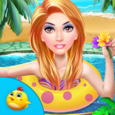 Princess Swimming Celebration Icon