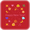 Happy New Year Emoji Art Icon