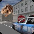 Dino in City-Dinosaur N Police Icon