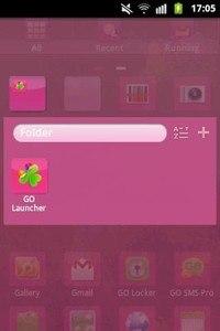 GO Launcher EX Theme Pink
