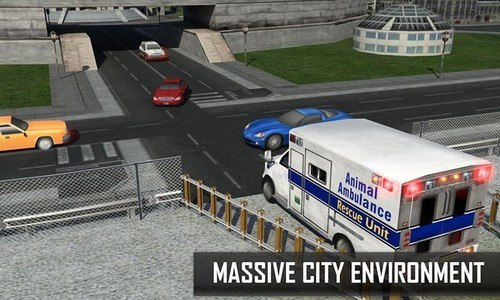 City Zoo Animals Rescue Truck