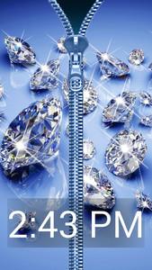 Diamond Zip Lock Screen Prank