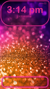 Glitter Lock Screen