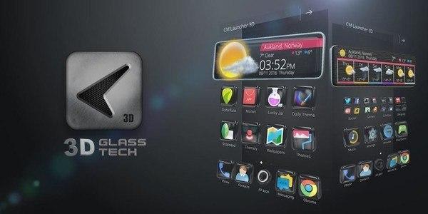 Glass Tech 3D Live Theme