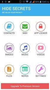 Hide Secrets - Pics, SMS, Apps