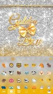 Golden Bow Kika Keyboard Theme