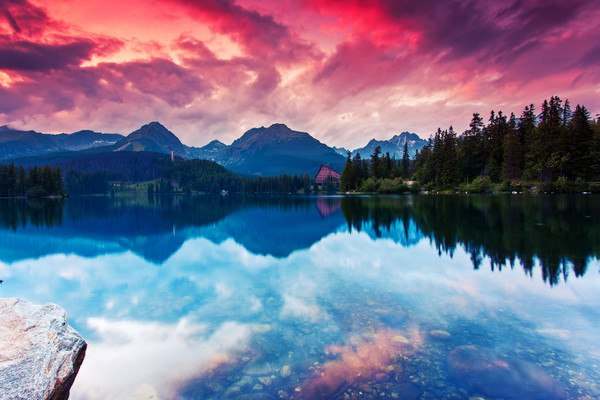 Strbske Pleso Mountain Lake