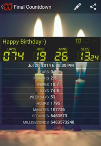 Final Countdown - Day Timer