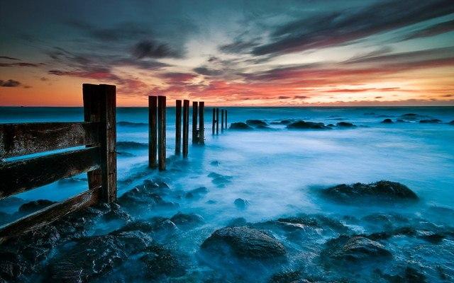 Ocean Groyne Sunset